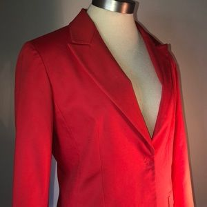 Tahari Single-Button Blazer - Red